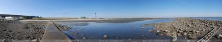 Panoramabild vom Geniusstrand in Wilhelmshaven