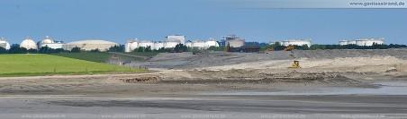 Blick in Richtung Norddamm und Wilhelmshavener Raffinerie