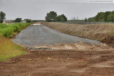 Bauarbeiten zur Gleisanbindung des JadeWeserPorts