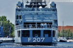 Fregatte Bremen (F 207) von Achtern