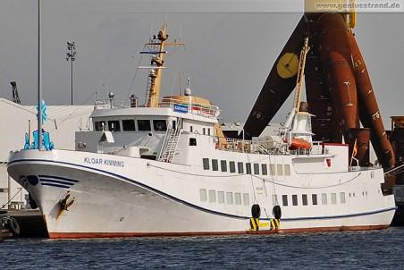 Passagierschiff Kloar Kimming am Südwestkai in Wilhelmshaven