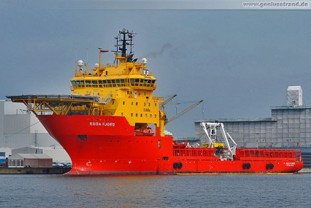 Multipurpose Platform Supply Vessel (MPSV) Edda Fjord am Hannoverkai
