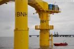 Wartungsarbeiten an der Windkraftanlage Bard VM (5.0) vor Hooksiel