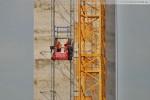 Der Bauaufzug am Treppenhaus (Kesselhaus)