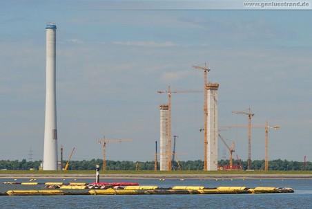 Die GDF Suez-Baustelle von der Seeseite aus gesehen