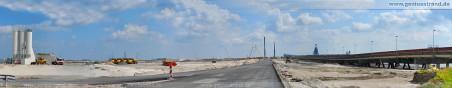 180°-Panoramabild - Autobahnanbindung für den JadeWeserport