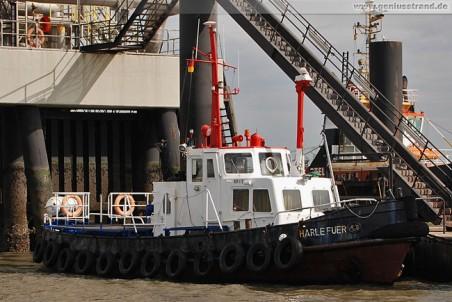 Versorgungsschiff Harle Füer am WRG-Anleger