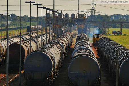 Rangierarbeiten am Ende der WRG-Gleisanlage