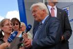 Bundesaußenminister F.-W. Steinmeier beim Interview mit ARD & NDR
