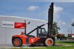 Seitenansicht vom Containerstapler Linde H 460