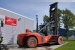 Heckansicht vom Containerstapler Linde H 460