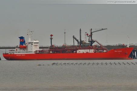 Tanker Coral Palmata an der Ineos-Pier