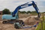 Gleisanbindung JadeWeserPort: Arbeiten am Unterbau der künftigen Gleistrasse
