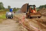 Gleisanbindung JadeWeserPort: Der Grader wird einsatzbereit gemacht