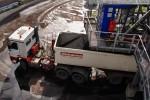 Transport zum Massenschüttgutlager: Die LKW-Verladestation