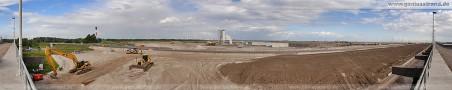 180°-Panoramablick über die JadeWeserPort-Baustelle
