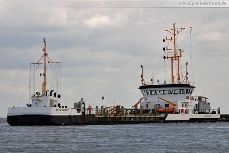 Baggerschiff Seekrabbe von den Niedersachsen Ports im Nassauhafen