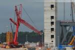Mobilkran Liebherr LTM 1400-7.1 auf der Kraftwerksbaustelle in Wilhelmshaven