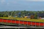 Massenschüttgutlager und die Bahnverladestation im Rüstersieler Groden
