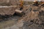 Bauarbeiten an der Gleisanbindung zum JadeWeserPort