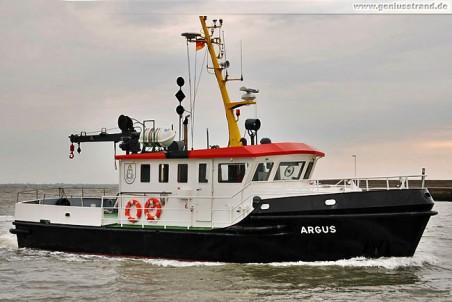 Mehrzweckboot Argus von den Niedersachsen Ports