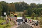 Gleisanbindung JadeWeserPort: Vorbereitungsarbeiten für den Gleisbau