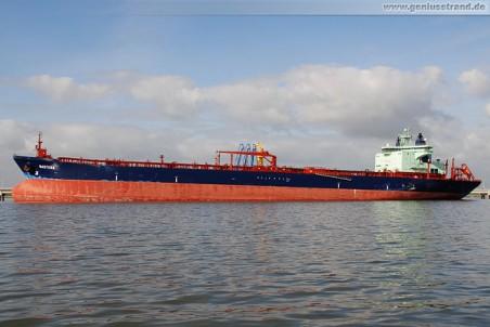 Der eisbrechende Tanker Mastera (Zweiwege-Tanker)