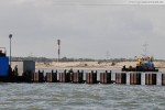 Die Hafenbaustelle JadeWeserPort in Wilhelmshaven