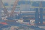 Blick auf die Kraftwerksbaustelle GDF Suez im Rüstersieler Groden