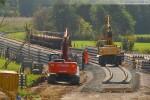 Gleisanbindung für den JadeWeserPort: Gleisbauarbeiten