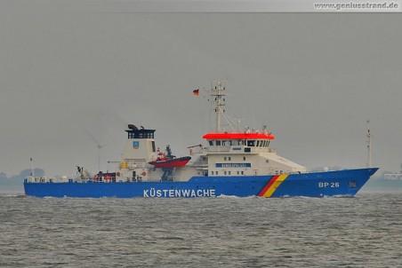 Das Bundespolizeischiff Eschwege (BP 26) von der Küstenwache