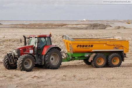 Traktor Case CVX 1170 mit Tandemanhänger Joskin Trans-KTP 22/50