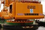 JadeWeserPort: Eindrücke vom Pontonbagger Liebherr P 995 Litronic