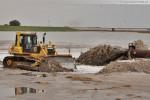 Hafenbaustelle Jade-Weser-Port: Spülarbeiten in Deichnähe