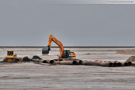 Die Baustelle des JadeWeserPort in Wilhelmshaven