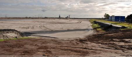 Spülfeld am JadeWeserPort : Aktuelles Bild vom ehemaligen Hauptzugang des Geniusstrands