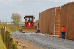 JadeWeserPort: Gleisbauarbeiten in Höhe der Deichschäferei