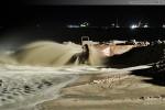 JadeWeserPort Spülfeld: Auch in der Nacht wird Sand aufgespült