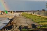 Baustelle Jade-Weser-Port: Eindrücke von den Spülarbeiten in Deichnähe