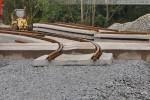 Gleisanbindung JadeWeserPort: Gleisbaustelle am Alter Voslapper Seedeich