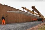 Gleisanbindung JadeWeserPort: Gleisbauarbeiten an der Raffineriestraße