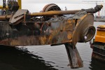 JadeWeserPort: Der Saugkopfschneidbagger M 30 nach der Bombenexplosion