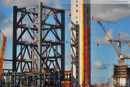 Eindrücke von der Kraftwerksbaustelle GDF Suez in Wilhelmshaven