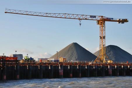 JadeWeserPort Baustelle: Turmdrehkran Wolff 6031