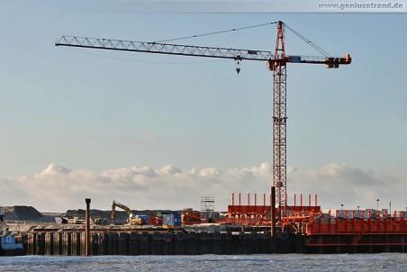 JadeWeserPort Baustelle: Turmdrehkran Wolff 6522