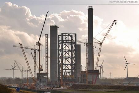 Kraftwerksbaustelle aus Richtung Norden