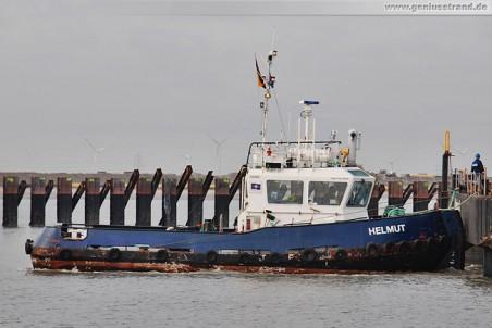 Schlepper Helmut an der Hafenbaustelle JadeWeserPort