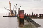 Der nördliche Bereich der Hafenbaustelle JadeWeserPort