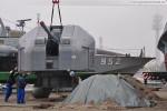 Deutsches Marinemuseum Wilhelmshaven: Der Geschützturm wird versetzt