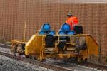 Gleisanbindung JadeWeserPort: Gleisbauarbeiten in Höhe der Deichschäferei